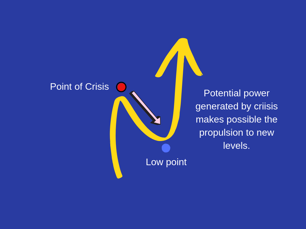 Thriving from crisis diagram by Amyra Mah